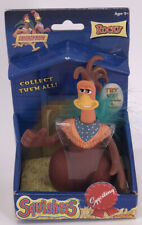 Vintage Chicken Run Squishers Rocky Rooster Action Figure 2000 Collectable Egg