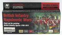 Vallejo 70.163 British Infantry Napoleonic Wars (Black Powder) Acrylic Paint Set