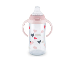 NUK 10 Oz Large Learner Cup 9+ Months Pink w/Birds & Balloons
