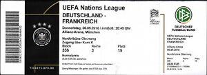 Ticket 06.09.2018 Deutschland - Frankreich in München, UEFA Nations League