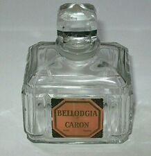 """Vintage Caron Bellodgia Perfume Bottle, Baccarat Numbered 3 3/4"""" Ht - Empty/Open"""