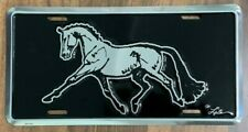 New listing Dressage Horse Extended Trot License Plate Equestrian Silhouette New Sporthorse