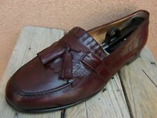 COLE HAAN Mens Dress Shoe Burgundy Italian Tassel Loafer Casual Slip On Sz 10.5M