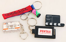 CAMERA KEYCHAINS SET OF 5 PENTAX/OLYMPUS/FUJI/COOL-LUX