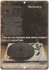 "Technics SL Turntable DJ Vintage Ad 10"" x 7"" Reproduction Metal Sign D107"