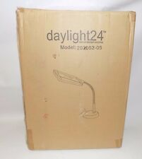 Daylight 24 Natural Day Light Magnifier Desk Table Lamp Light - Silver 202052-05