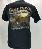 Harley Davidson Mens Sz Medium Short Sleeve Tshirt Gruene New Braunfels Texas HD