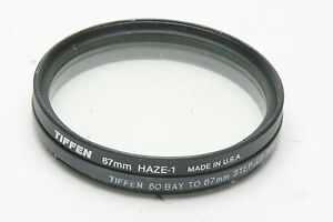 Tiffen Adapter Ring B60 To 67mm Thread For Hasselblad & Tiffen UV Filter. Clean.