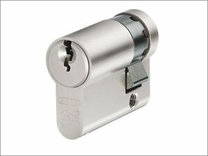 ABUS Mechanical - E60NP Euro Half Cylinder Nickel Pearl 10mm / 30mm Visi