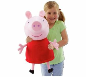 Peppa Pig Giant Talking Peppa Soft Toy Cuddle Up To This Massive 22 Inch Soft_UK
