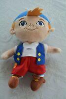 "Disney Store Jake & the Neverland Pirates Plush Doll Stuffed Animal Toy 10"""