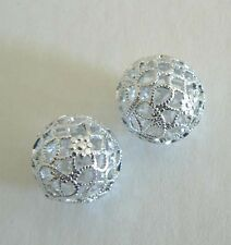 1 Filigree Vintage Beads From West Germany Light Weight Never Worn Earring Parts