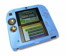 Blue Soft Silicone Gel Cover Case for Nintendo 2DS Console UK Seller