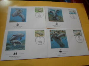 Togo 1984 Wwf African Manati 4 FDC First Day Covers