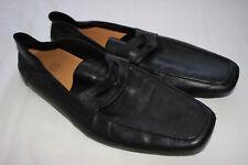 Cole Haan Homme en Cuir Noir Mocassins Chaussures Taille US 12 bon état utilisé