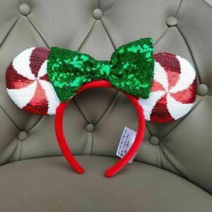 Disney Parks Minnie Ears Lollipop Disneyland Sequins Candy Cane Cutie Headband