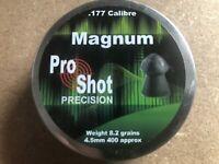 Pro Shot Precision Magnum Pellets  Qty 400 .177/4.5mm Free P&P