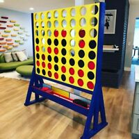Giant Connect 4 In A Row Jumbo Yard Game Oversized custom made Games
