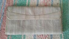 Eelskin Grey Tri-fold Checkbook Leather Wallet