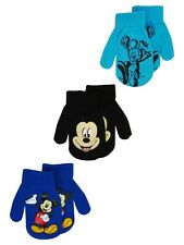 Disney Mickey Mouse Toddlers Gloves Mittens 2T-4T (3-PACK)