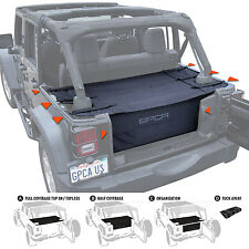 Jeep Wrangler Cargo Cover PRO + Cargo Organizer Freedom Pack for 2007-17 JKU 4DR