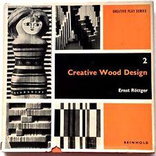 Vintage Creative Wood Design Creative Play Series 2 Rottger 1968 MCM Ideas