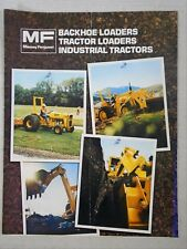 Advertising Brochure Massey Ferguson Backhoe Loaders Industrial Tractors MF