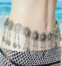 Boho Gypsy Belt Chain Flower Coin Festival Tribal Bikini body Jewellery Belly