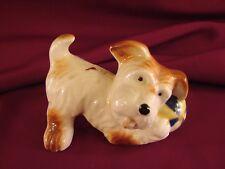 Vintage Occupied Japan Scotty Terrier Figurine w/Ball Whimsical Comic Dog #De2