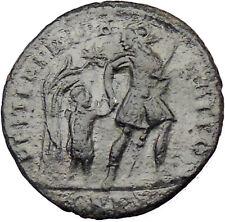 CONSTANS Constantine I son AE2 Ancient Roman Coin Soldier Child barbarian i29586