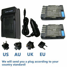2X Battery +  Charger for Panasonic DMW-BLF19 DMW-BLF19E DMW-BLF19PP
