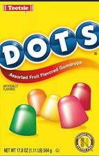 Dots, Assorted Fruit Flavored Gumdrops Candy 17 oz. Box World Shipping