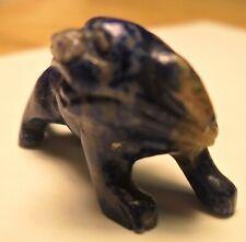 """Vintage Hand Carved Natural Lapis Lazuli Dog Figurine 1 1/4"""" Long"""