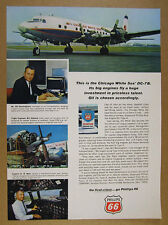 1966 Chicago White Sox DC-7B team plane photo Phillips 66 Oil vintage print Ad
