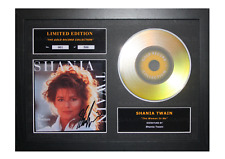 More details for shania twain signed gold disc album ltd edition framed picture memorabilia