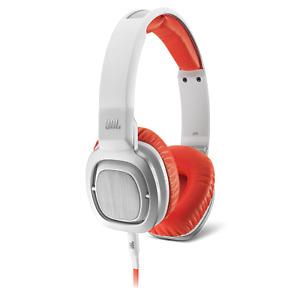 JBL J55 High-Performance On-ear Headphones White Orange BRAND NEW NIB SEALED
