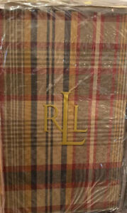 Ralph Lauren Vintage Explorer Madras Multi Plaid King Sham Brown New