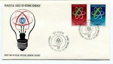 1977 Peaceful Uses Atomic Energy First Day Issue Official Geneva Cachet Geneve