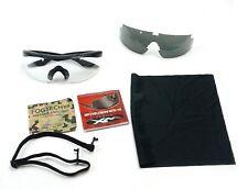 Wiley X WX Talon Interchangeable Sunglasses Grey/Clear Matte Black Frame w/ Case