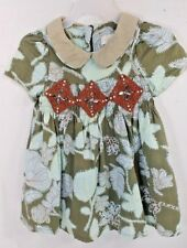 TRISH SCULLY Child Boutique SMOCKED Fall DRESS Crochet Bead Toddler Girl 18 MOS