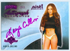 "KAYLA COLLINS ""PINK HOCKEY AUTOGRAPH CARD #2/3"" BENCHWARMER PINK ARCHIVE 2015"