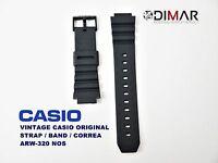 LOTE DE 2 VINTAGE CASIO ORIGINAL BAND/STRAP/CORREA ARW-320/AQ-120/AQ-130 NOS