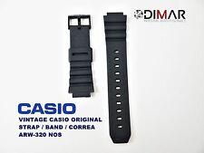 LOTTO DI 2 VINTAGE CASIO ORIGINAL BAND/STRAP/GUINZAGLIO ARW-320 NOS