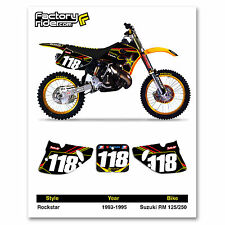1993-1995 SUZUKI RM 125-250 Rockstar Motocross Graphics Dirt bike Number Plates