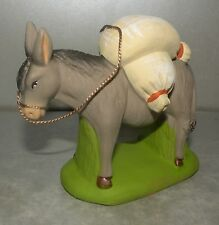 NEW  Donkey With Baskets Of Flour , for Santons  Didier 10 Cm