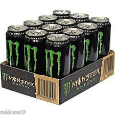 12 Dosen a 0,5L Monster Energy Drink inc. Pfand Energie grün Orginal