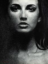 1967 Vintage SAM HASKINS Female Face Portrait Woman Eyes Fashion Photo Art 16x20