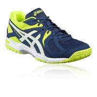 Asics Mens Gel-Hunter 3 Indoor Court Shoe - Blue Green Yellow Sports Squash