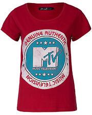 "BLEND SHE SHIRT ""MTV""-PRINT MUSIC FESTIVAL ROT M 38 NEU mit ETIKETT !!! TOP !!!"