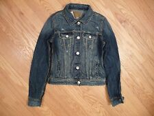 Womens NEW AE American Eagle Medium Destroy Denim Jean Jacket Coat Sz XS X-Small